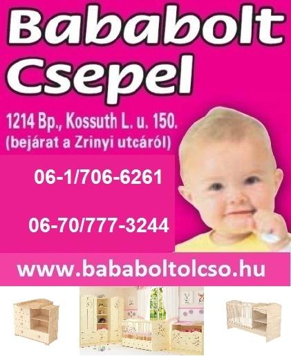 Babaágy, bababútor, pelenkázó szekrény, babaszoba